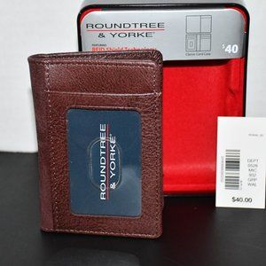 Roundtree & Yorke  RFID Classic Card Case in Brown